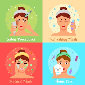 Raccolta banner procedure cosmetiche