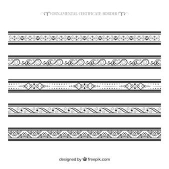 Raccolta bordo ornamentale certificato
