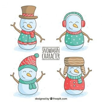 Raccolta carattere del pupazzo di neve