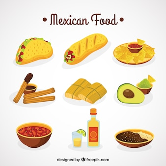 Raccolta cibo messicano