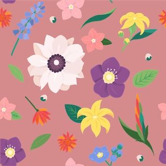 Raccolta decorata d'annata del fiore del fiore