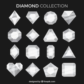 Raccolta dei diamanti in design piatto