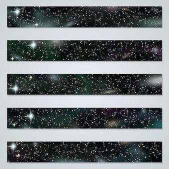 Raccolta dei modelli delle insegne del fondo dello spazio