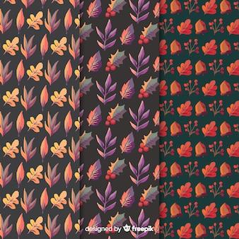 Raccolta del modello di autunno dell'acquerello