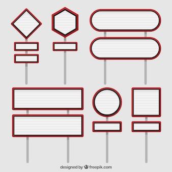 Raccolta del segnale stradale in design piatto