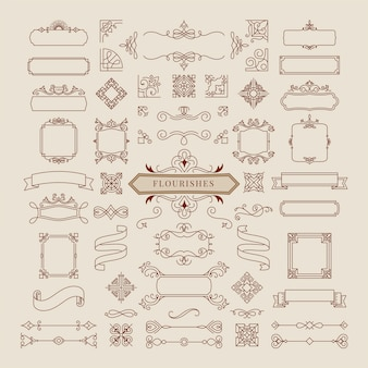 Raccolta dell'illustrazione della struttura dell'ornamento dell'annata