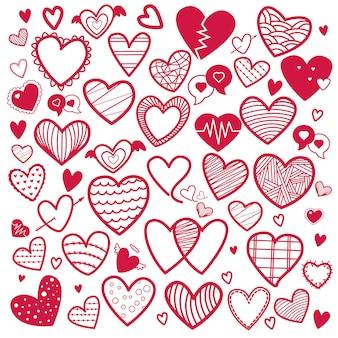 Raccolta dell'illustrazione delle icone del cuore di amore