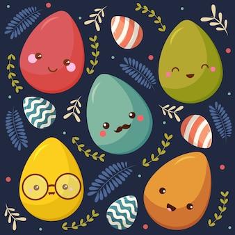 Raccolta dell'uovo di cura di giorno di pasqua