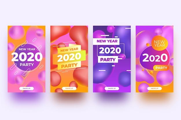 Raccolta della storia di instagram del partito del nuovo anno 2020