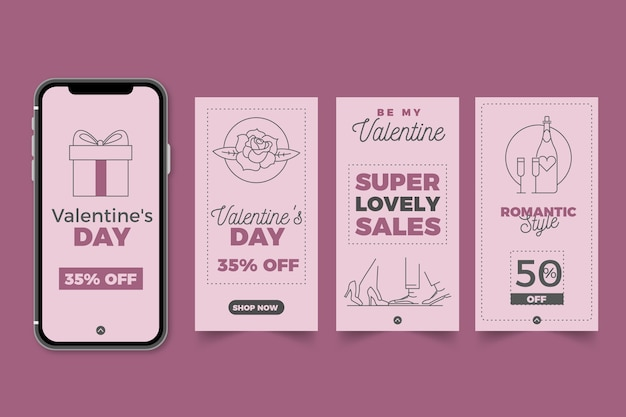 Raccolta della storia di vendita di san valentino