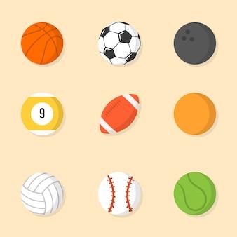 Raccolta delle sfere di sport