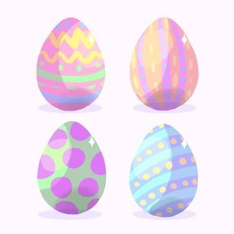 Raccolta delle uova di giorno di pasqua dell'acquerello