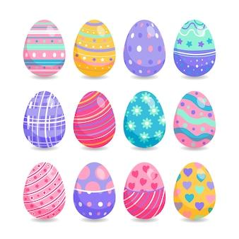 Raccolta delle uova di giorno di pasqua in stile piano