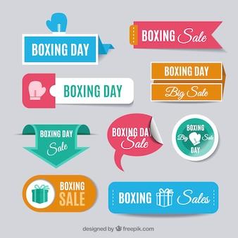 Raccolta delle vendite boxing day colorato