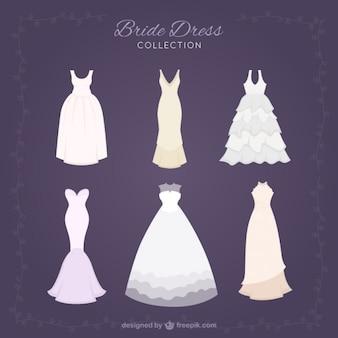 Raccolta di abito elegante brid