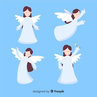 Raccolta di angeli di natale felice