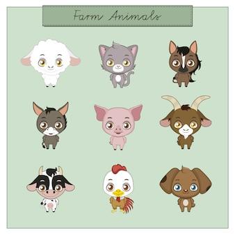 Raccolta di animali da allevamento