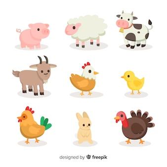 Raccolta di animali da fattoria