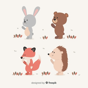 Raccolta di animali della foresta
