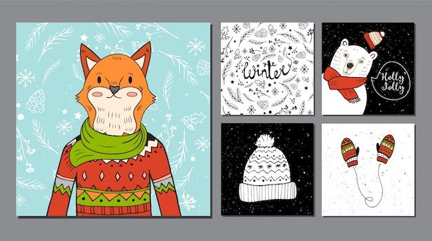 Raccolta di animali invernali