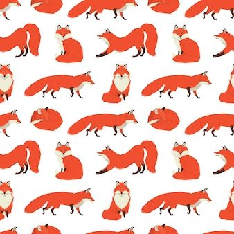 Raccolta di animali selvatici red foxes background
