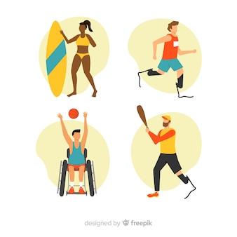 Raccolta di atleti con disabilità