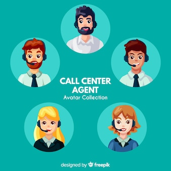 Raccolta di avatar di call center