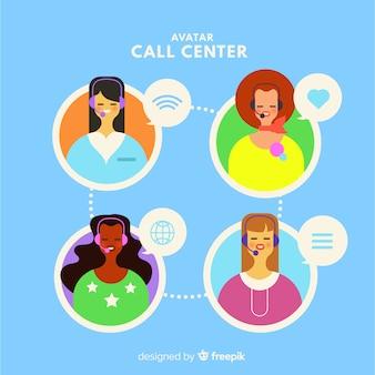 Raccolta di avatar di call center