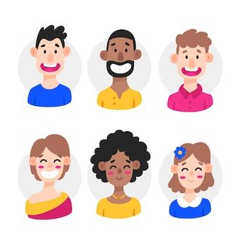 Raccolta di avatar di persone diverse