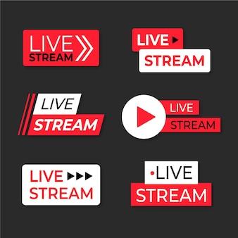 Raccolta di banner di notizie di streaming live