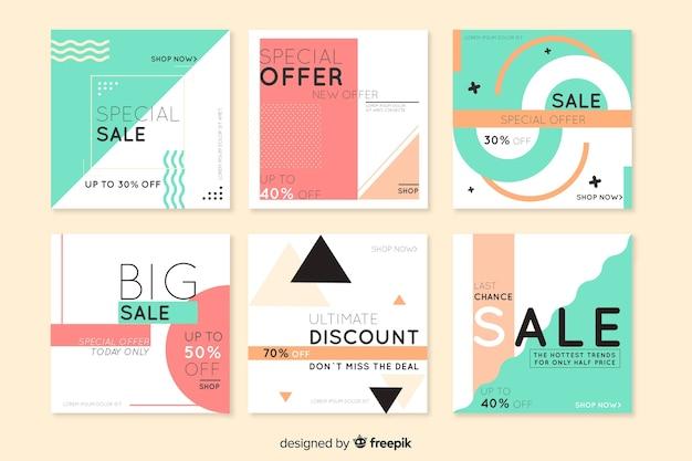 Raccolta di banner di promozione di vendita
