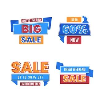 Raccolta di banner di vendita a tempo limitato