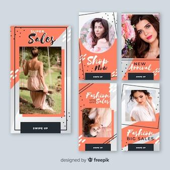 Raccolta di banner di vendita con foto
