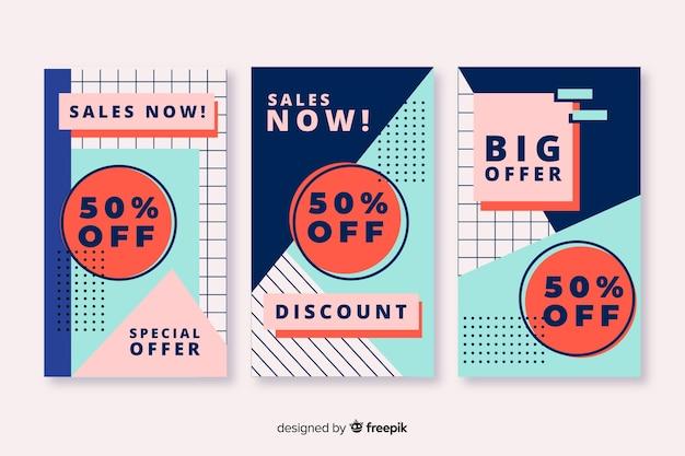 Raccolta di banner di vendita in stile