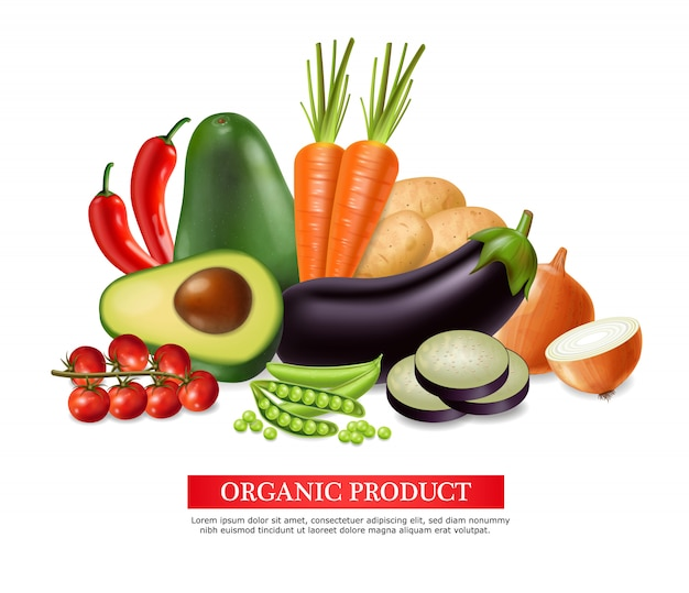 Raccolta di banner di verdure