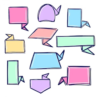Raccolta di banner origami