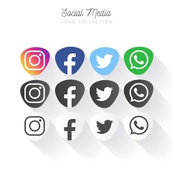 Raccolta di banner social media popolare