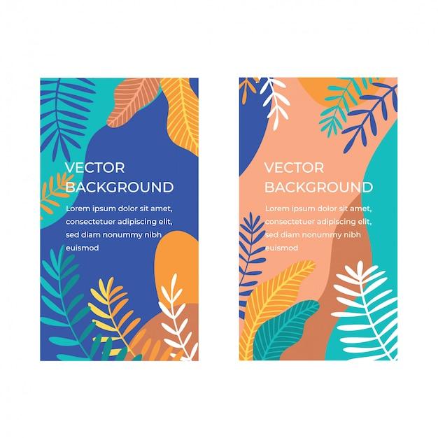 Raccolta di banner tropicali