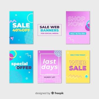 Raccolta di banner web in vendita