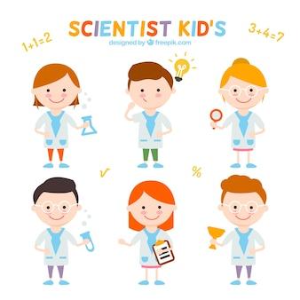 Raccolta di bei ragazzi scienziato