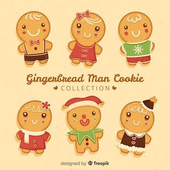 Raccolta di biscotti di panpepato carino