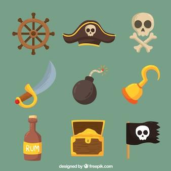 Raccolta di bombe e altri elementi pirata