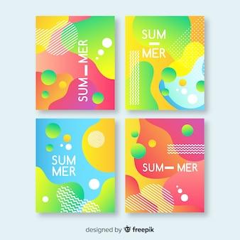 Raccolta di brochure estate astratta