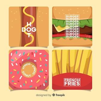 Raccolta di carte di cibo
