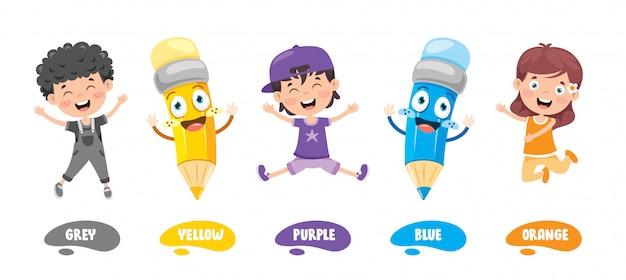 Raccolta di colori per l'educazione dei bambini