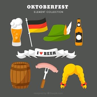Raccolta di complementi per la festa tedesca
