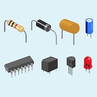Raccolta di componenti elettronici