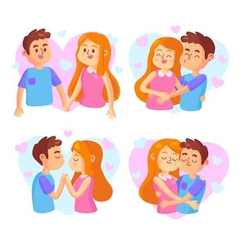 Raccolta di coppia carina illustrata