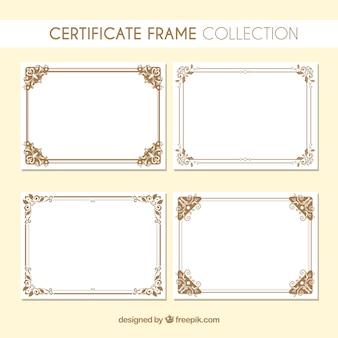 Raccolta di cornici di certificati