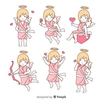 Raccolta di cupido ragazza di san valentino
